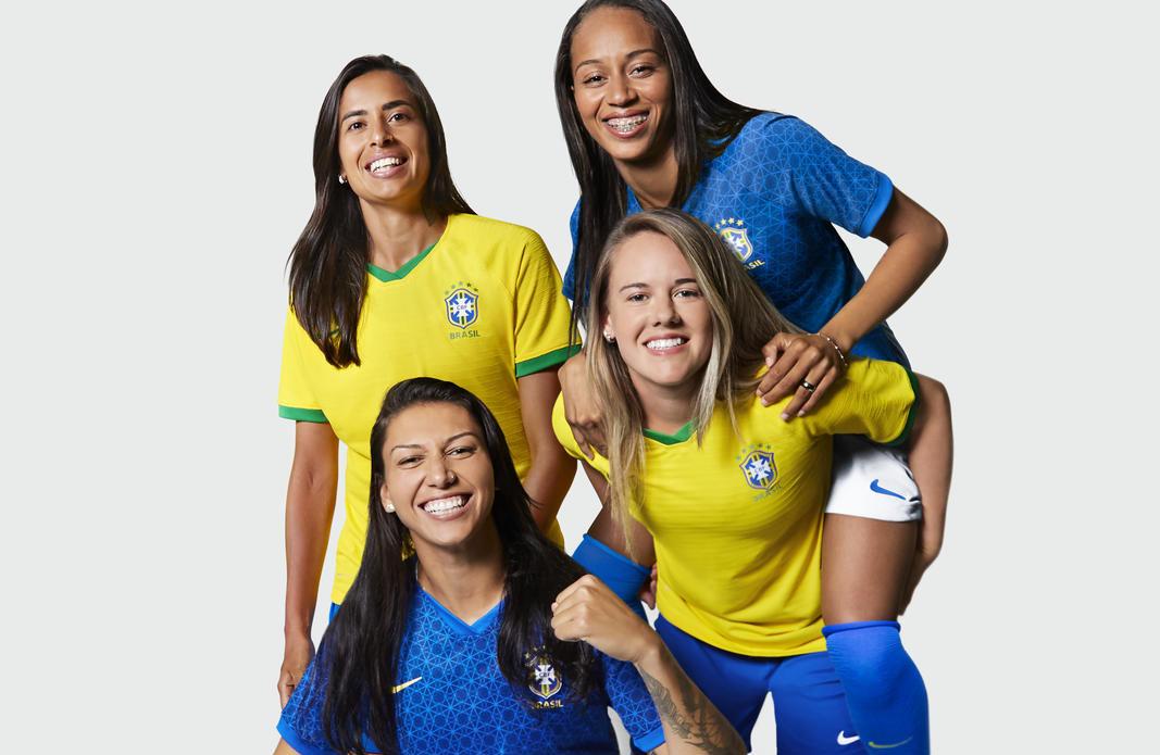 Camisas da Seleção Feminina do Brasil 2019 Nike | Copa do Mundo