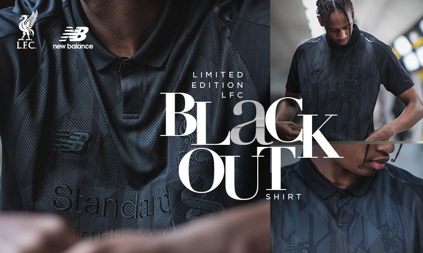 Camisa Blackout do Liverpool 2018-2019 New Balance