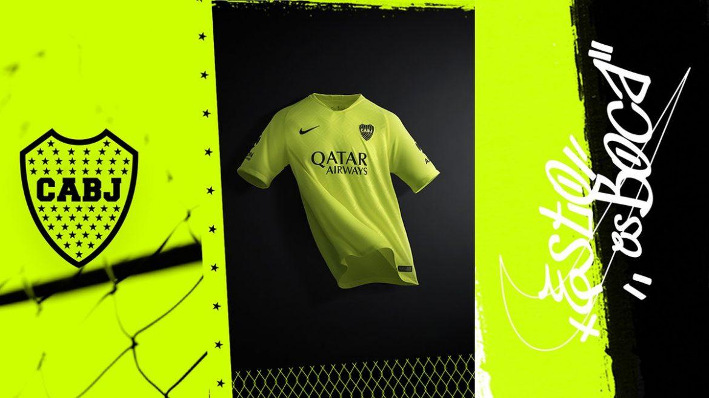 Terceira camisa do Boca Juniors 2019 Nike abre
