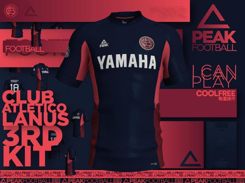 Terceira camisa do CA Lanús 2018-2019 Peak Sport
