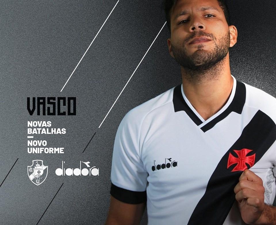 Camisa branca do Vasco da Gama 2019 Diadora