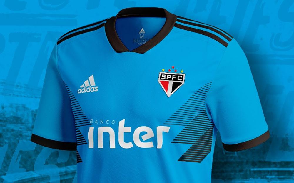 Camisa celeste do São Paulo 2019 Adidas