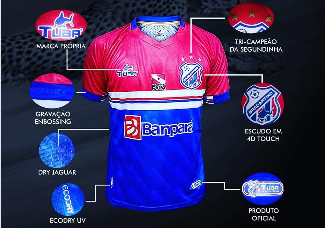 Camisas do Bragantino-PA 2019 Tuba
