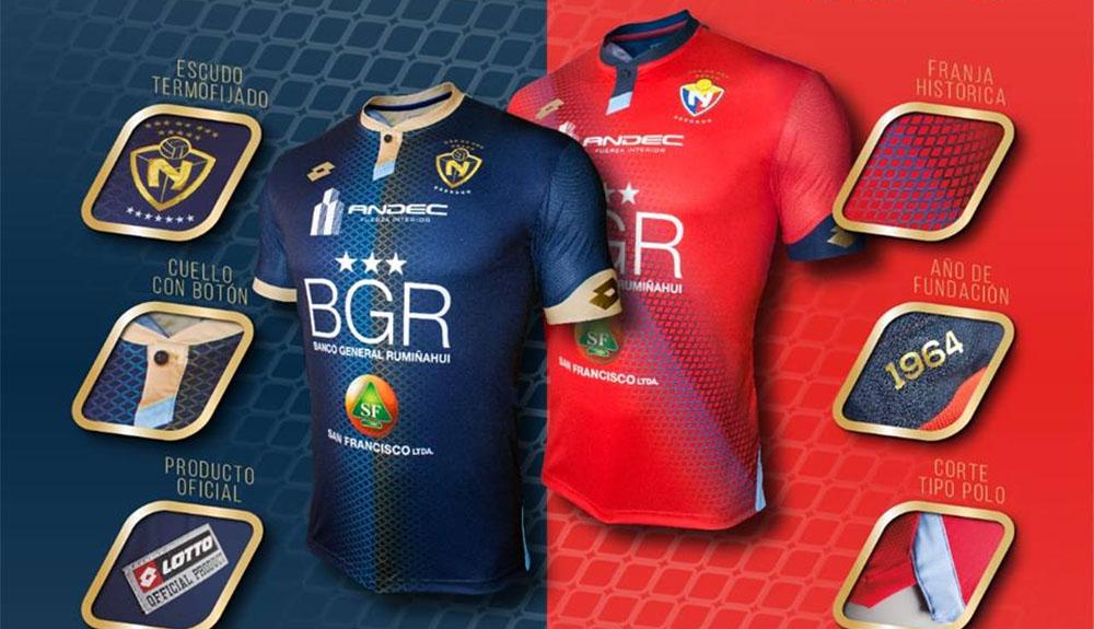 Camisas do El Nacional 2019 Lotto