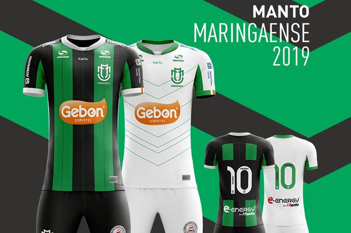 Camisas do Maringá FC 2019 Karilu + novo escudo