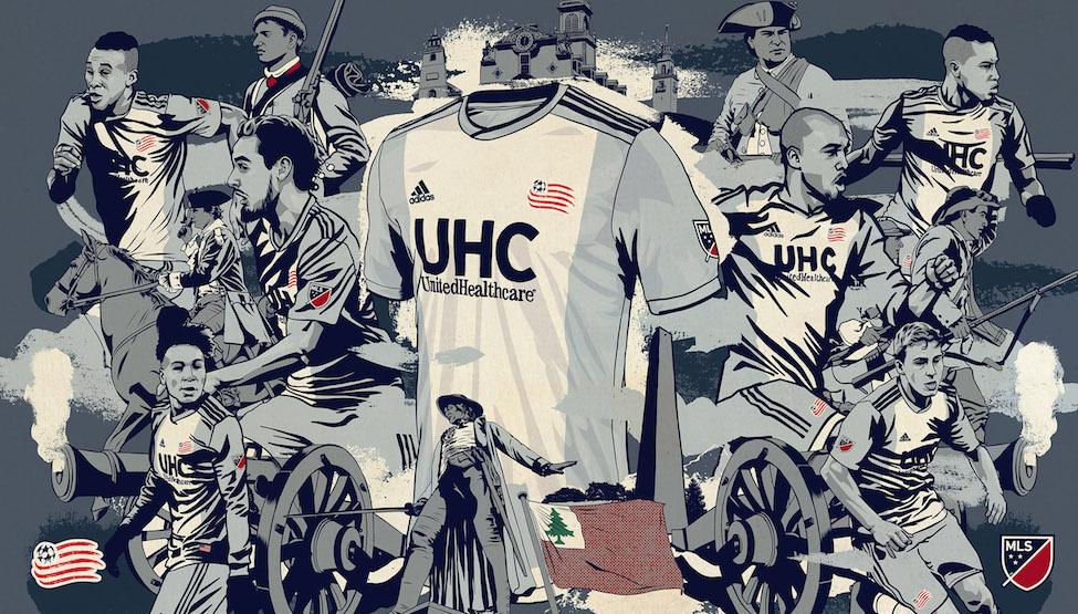 camisas do New England Revolution 2019 Adidas MLS