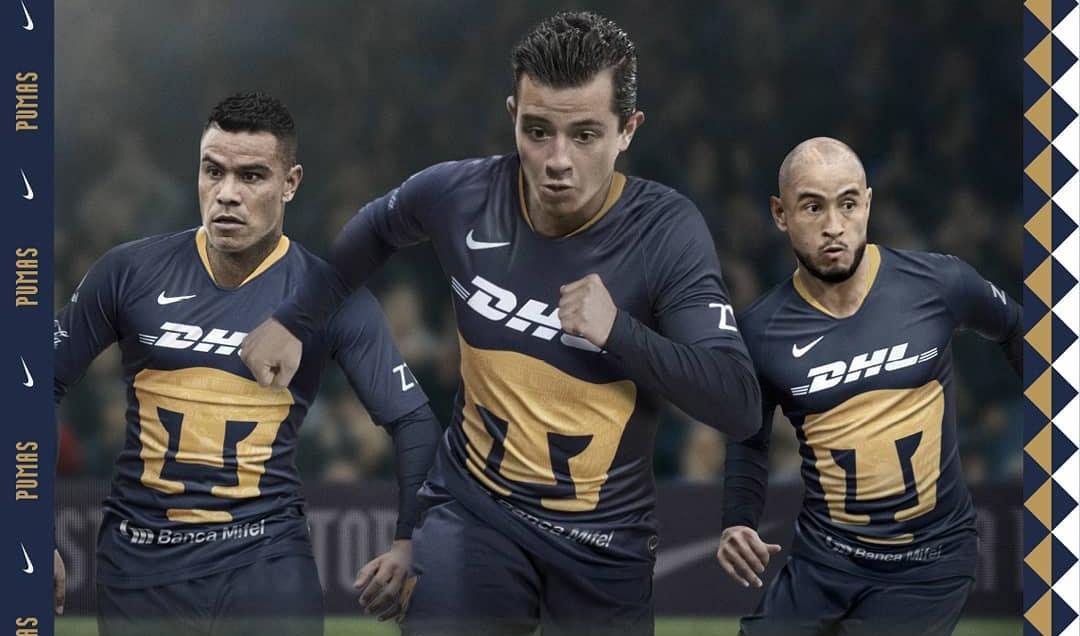Terceira camisa do Pumas UNAM 2019 Nike abre