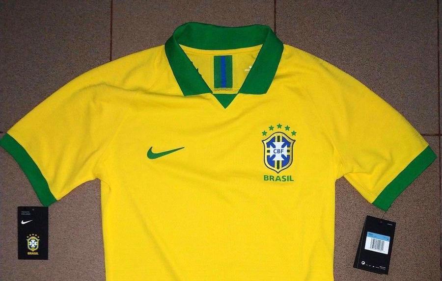 Vaza suposta nova camisa amarela do Brasil para a Copa América 2019 b