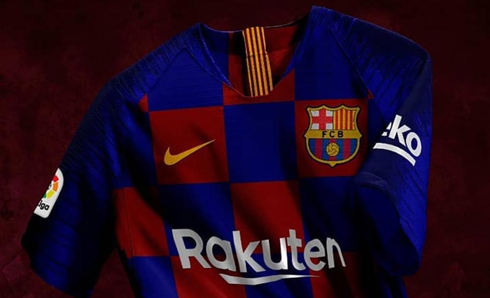 Barcelona camisa quadriculada