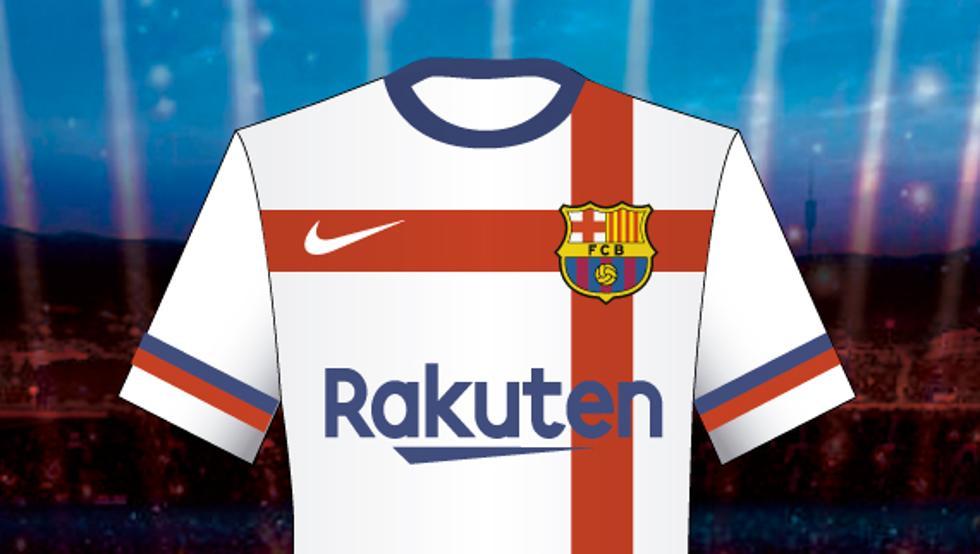 Camisa branca do Barcelona 2020-2021 Nike Rejeitada