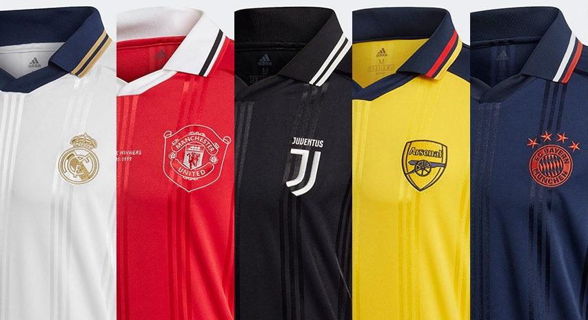 Camisas Icon Adidas para equipes europeias 2019