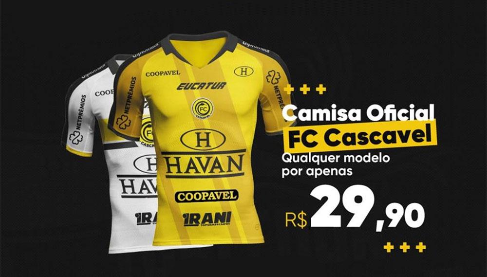 FC Cascavel camisas menos de R$ 30,00