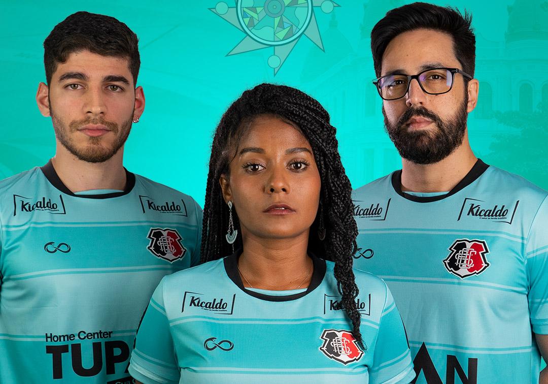 Marco Zero Camisa do Santa Cruz para a Copa do Nordeste 2019 Cobra Coral abre