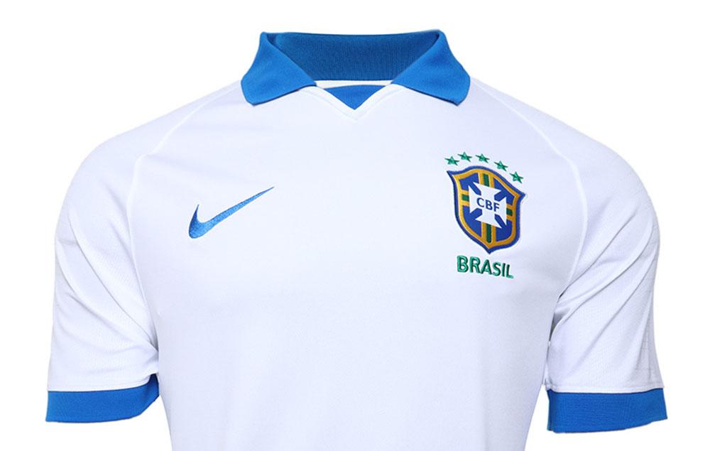 Camisa branca da Seleção Brasileira 2019 Nike abre