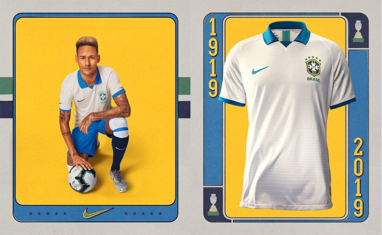 Camisa branca do Brasil 2019 Nike Copa América