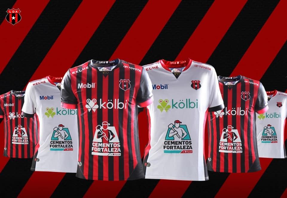 Camisas da Alajuelense 2019 Kelme 100 anos