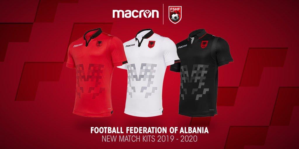 Camisas da Albania 2019-2020 Macron