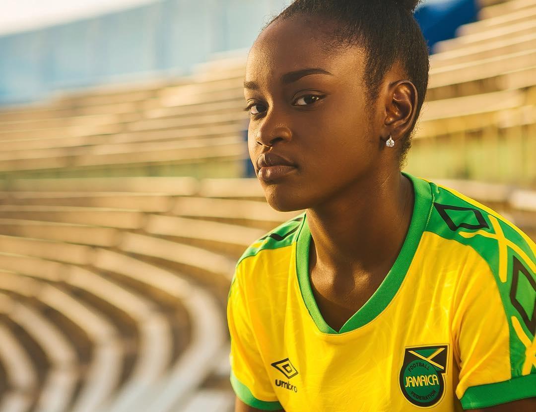 Camisas da seleção feminina da Jamaica 2019 Umbro Copa do Mundo