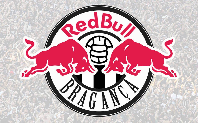 Escudo e uniformes do Red Bull Bragança Rodrigo Seraphim abre