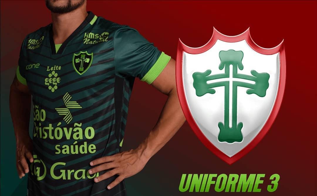 Terceira camisa preta da Portuguesa 2019 Ícone Sports abre