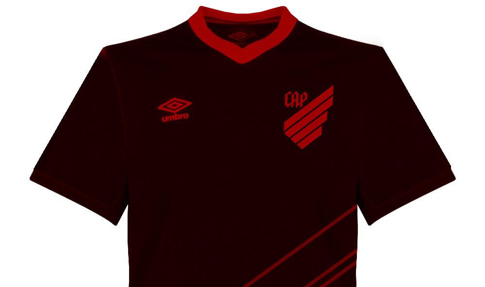 Terceira camisa preta do Athletico Parananese 2019 Umbro abre