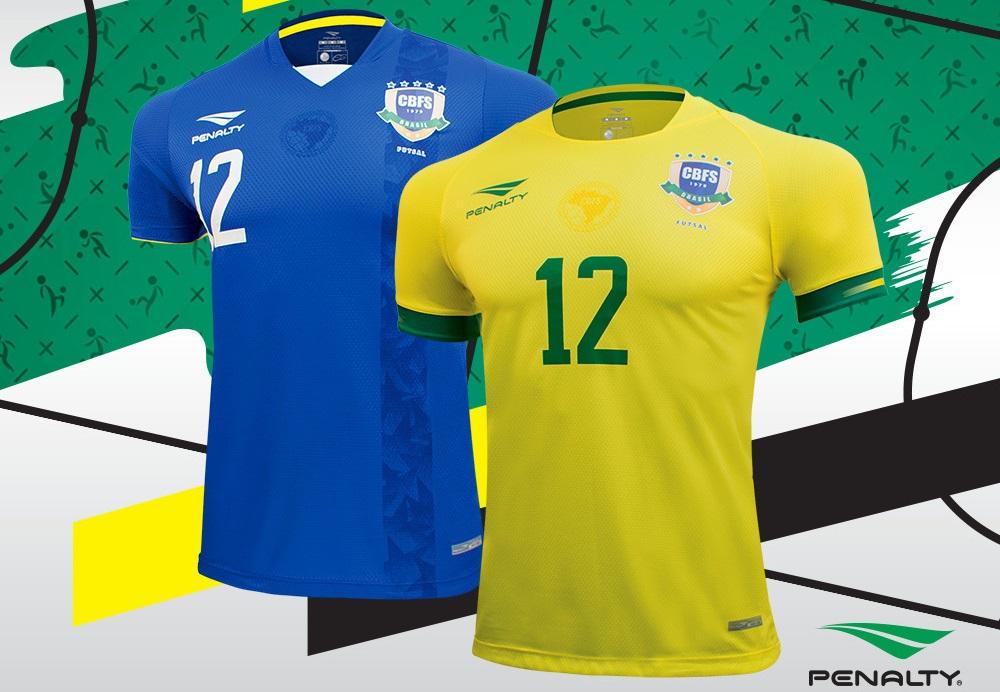 Camisas da Seleção Brasileira de Futsal 2019-2020 Penalty (