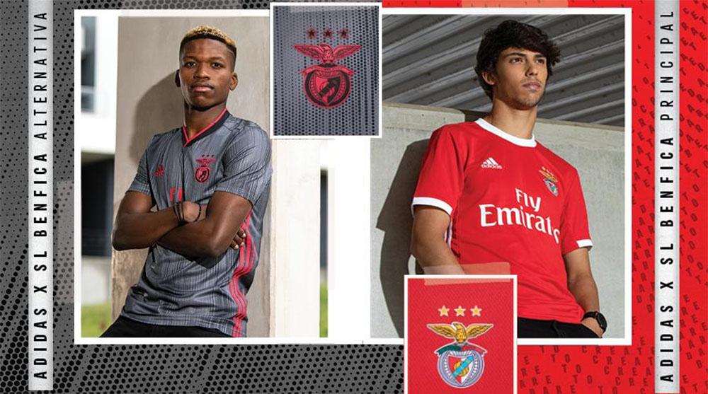 Camisas do Benfica 2019-2020 Adidas abre
