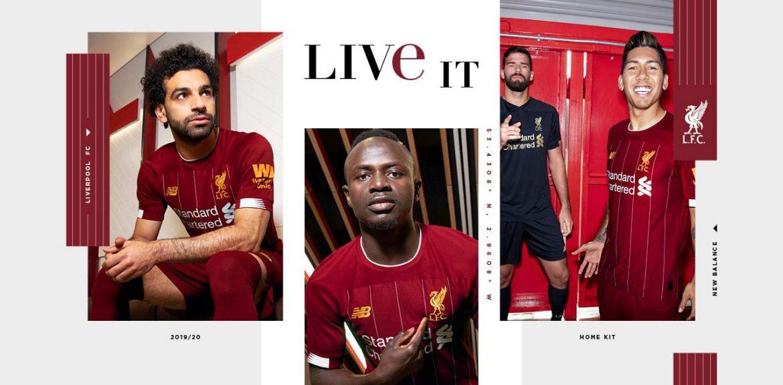 Camisas do Liverpool 2019-2020 New Balance