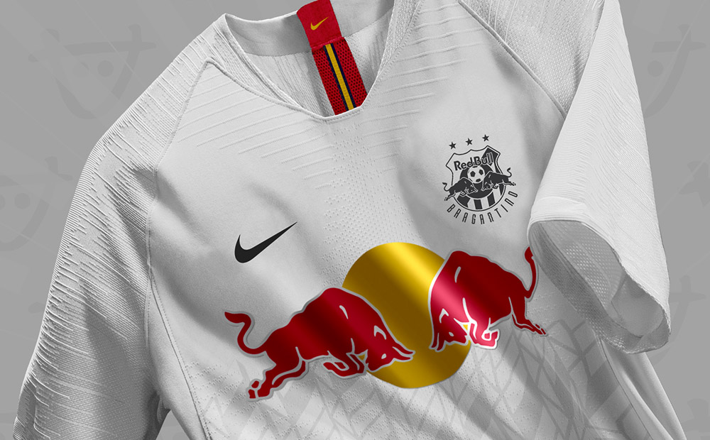 Escudo e uniformes do Red Bull Bragantino