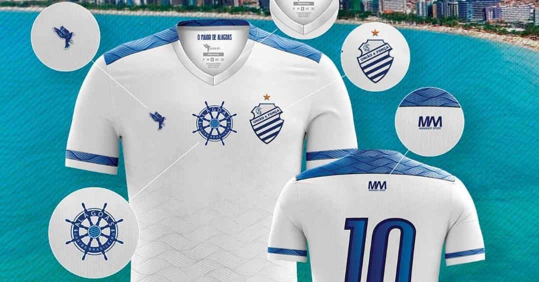 Pérola Terceira camisa branca do CSA 2019 Azulão