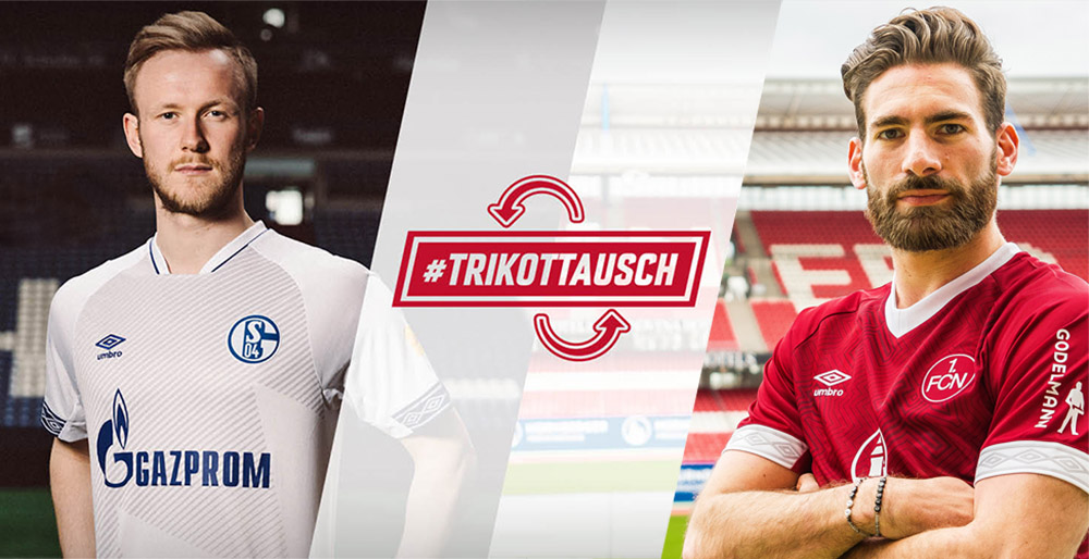 #Trikottausch Schalke 04 x Nuremberg Umbro abre