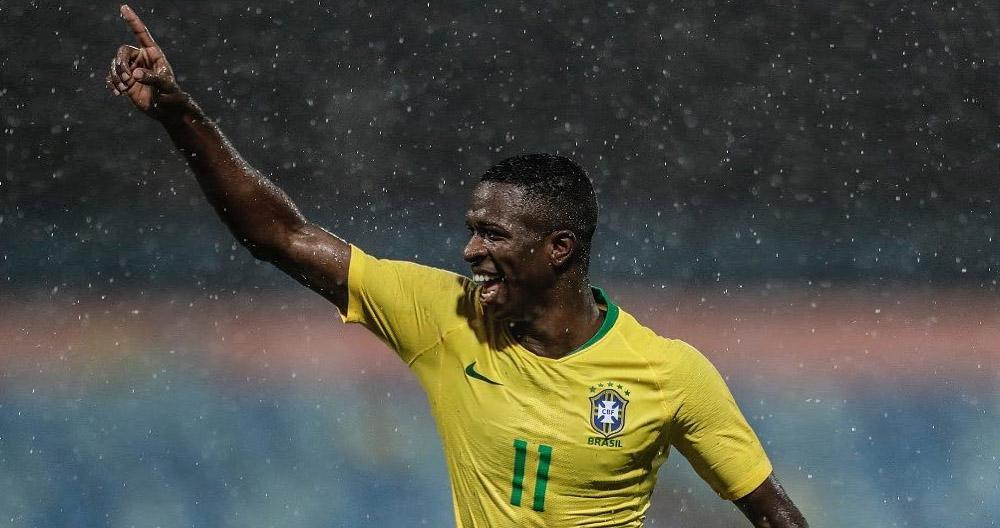 Vinicius Jr Novas camisas da Seleção Brasileira