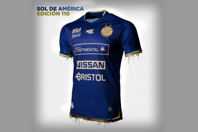 Camisa de 110 anos do Sol de América 2019 Kyrios Sport