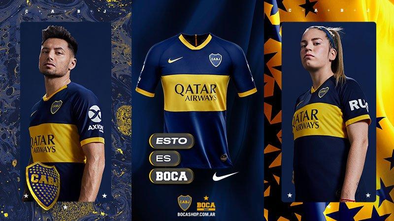 Camisas do Boca Juniors 2019-2020 Nike abre