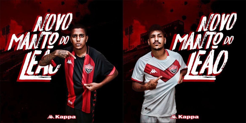 Camisas do EC Vitória 2019-2020 Kappa abre