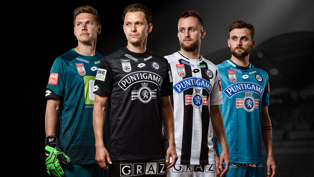 Camisas do SK Sturm Graz 2019-2020 Lotto
