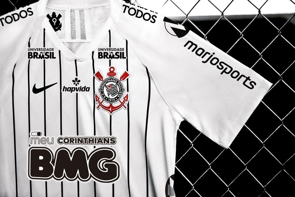 Corinthians prepara camisa com patrocínios monocromáticos