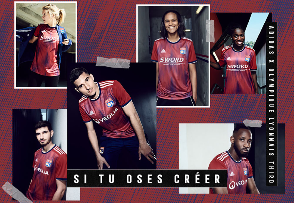 Terceira camisa do Lyon 2019-2020 Adidas abre