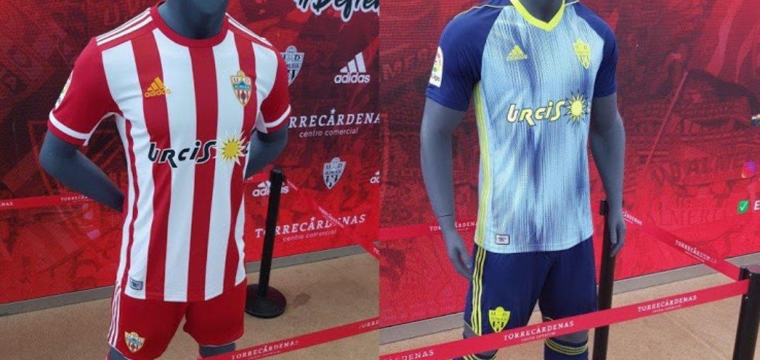 Camisas da UD Almería 2019-2020 Adidas