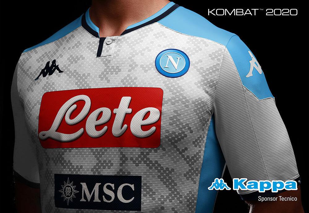 Camisas do Napoli 2019-2020 Kappa Terceira