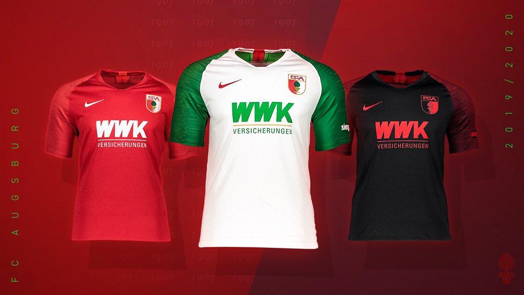 Camisas do Augsburg 2019