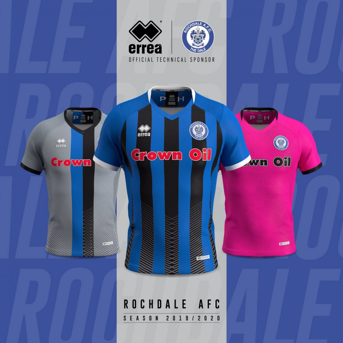 Camisas do Rochdale AFC 2019