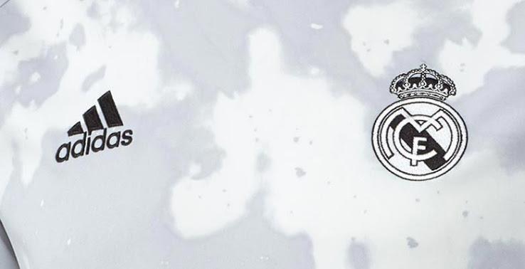 Pre-match Camisa manchada do Real Madrid 2019-2020 Adidas Parley