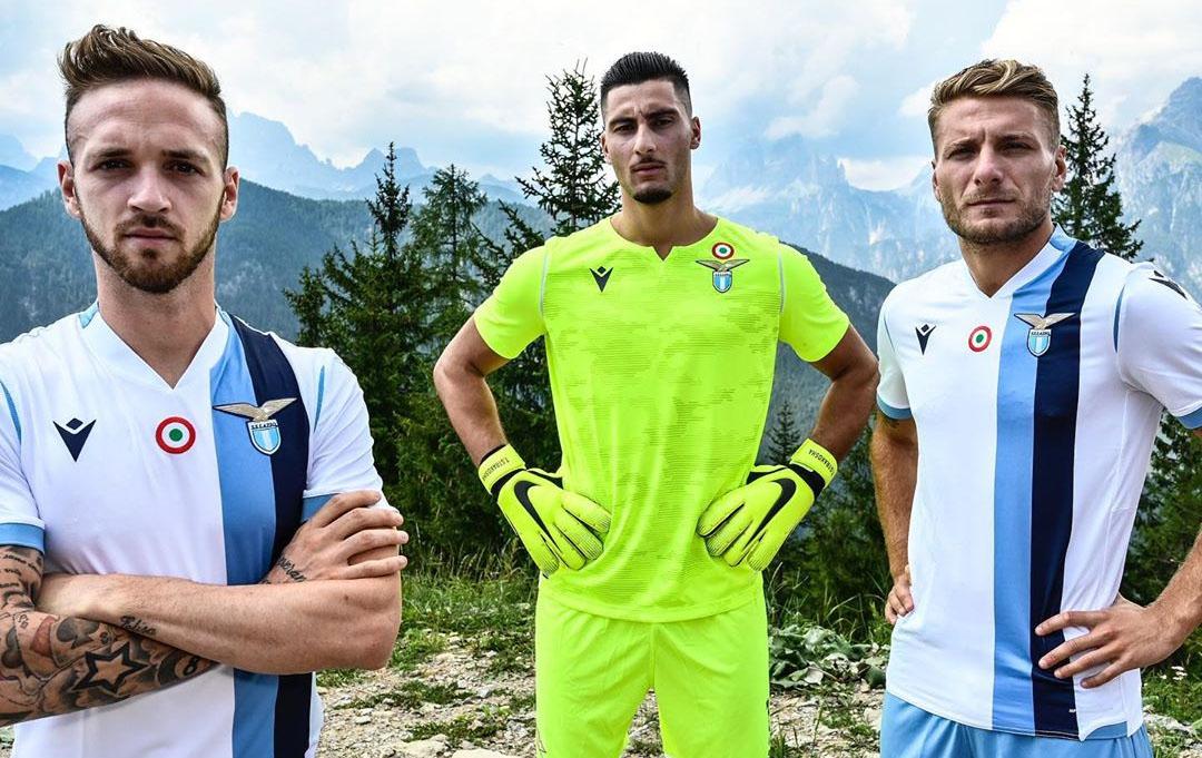 Camisas da SS Lazio 2019-2020 Macron Reserva abre