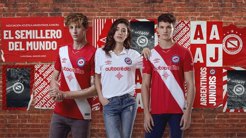 Camisas do Argentinos Juniors 2019-2020 Umbro