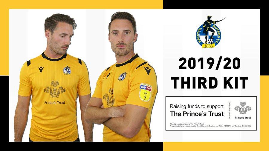 Camisas do Bristol Rovers 2019-2020 Macron