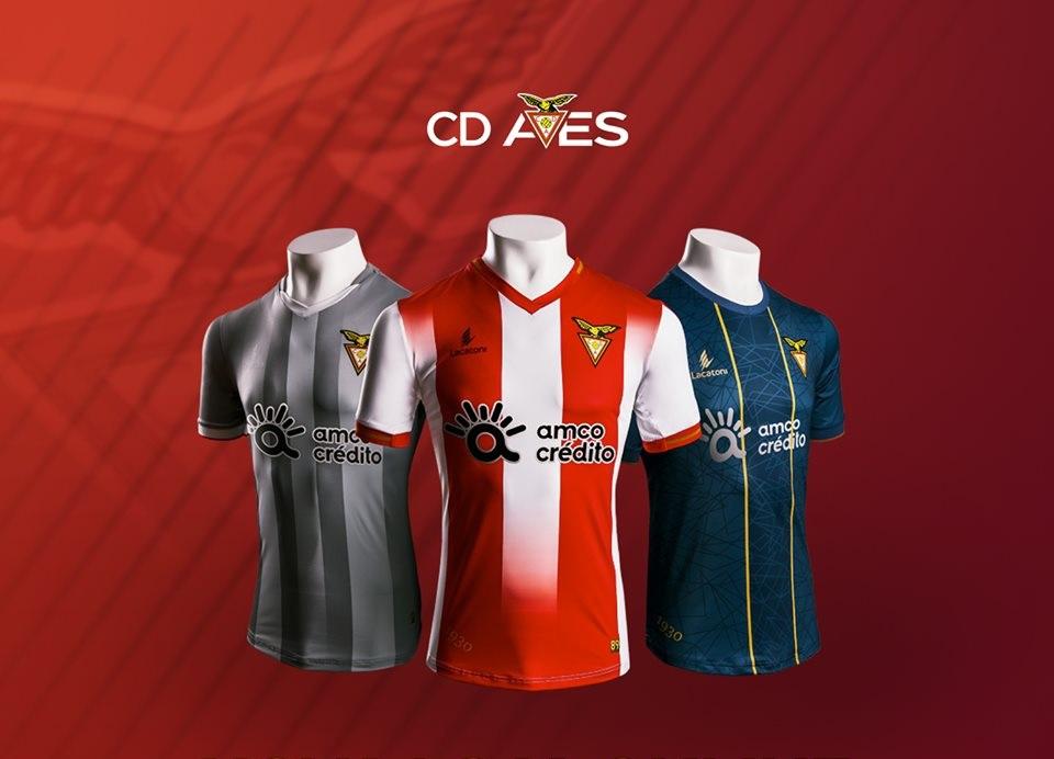 Camisas do Desportivo das Aves 2019-2020 Lacatoni
