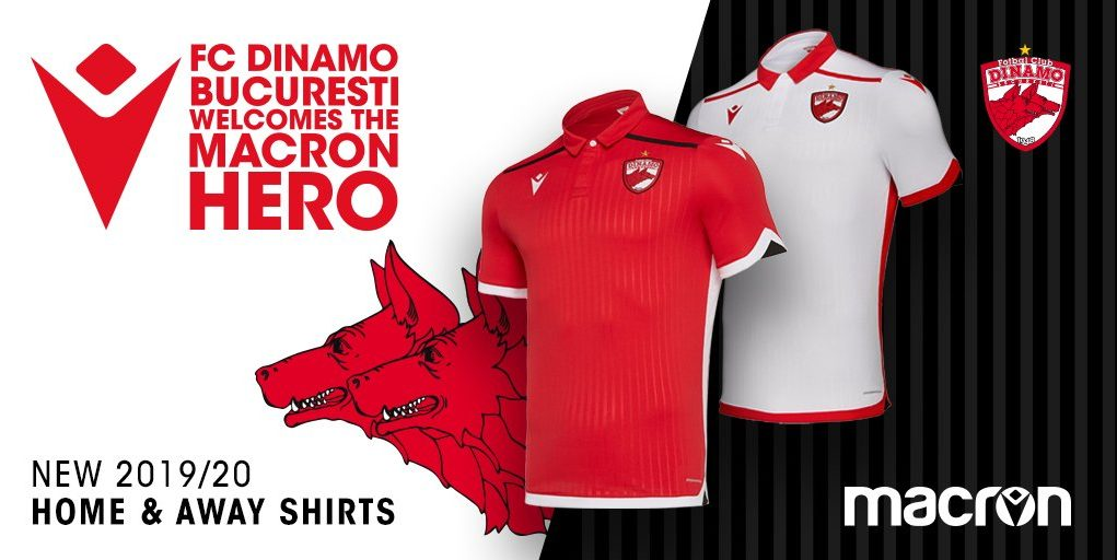 Camisas do Dinamo Bucareste 2019-2020 Macron
