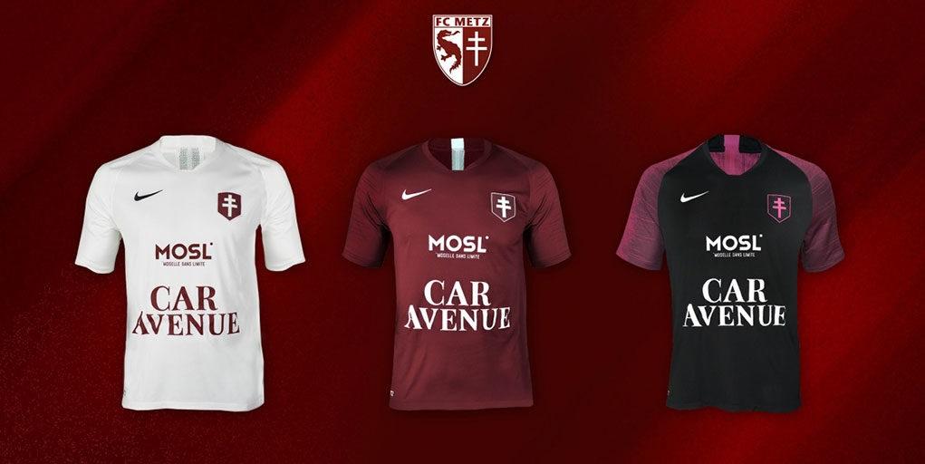 Camisas do FC Metz 2019-2020 Nike