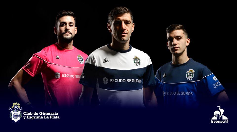 Camisas do Gimnasia y Esgrima 2019-2020 Le Coq Sportif